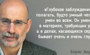Задумчивые слова  Бориса Акунина