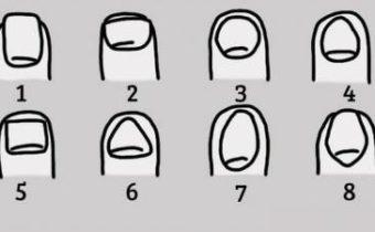 Тест: какая у вас форма ногтя