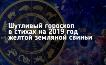 Шутливый гороскоп в стихах на 2019 год желтой земляной свиньи