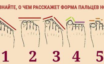 О чем расскажет форма пальцев ног